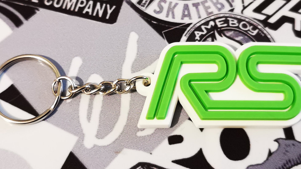 Ford RS Focus ST Key ring  White / Green