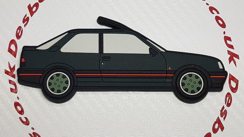 Peugeot 309 Fridge Magnet Green / Goodwood Wheels