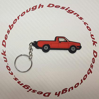 VW Golf Caddy Mk1 Key Ring Red