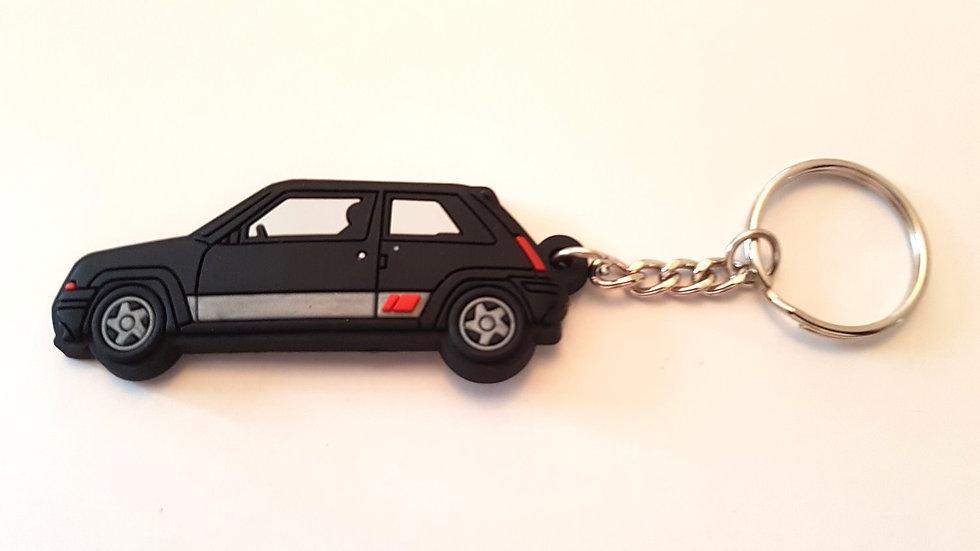 Renault 5 GT Turbo Phase 2 Key Ring Black