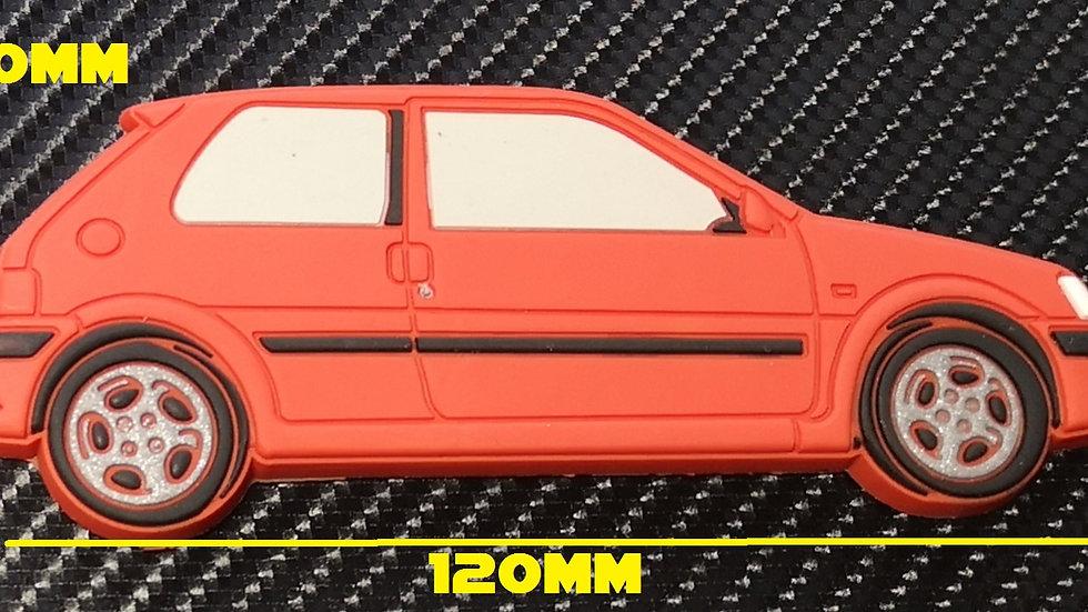 Peugeot 106 GTI Fridge Magnet Red