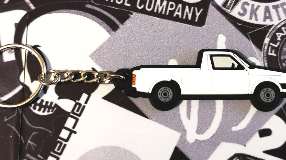 VW Golf Caddy Mk1 Key Ring White