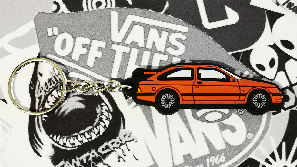 Ford RS 500 Cosworth Key Ring Red