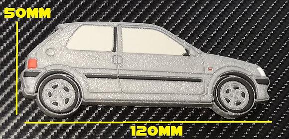 Peugeot 106 GTI Fridge Magnet Silver