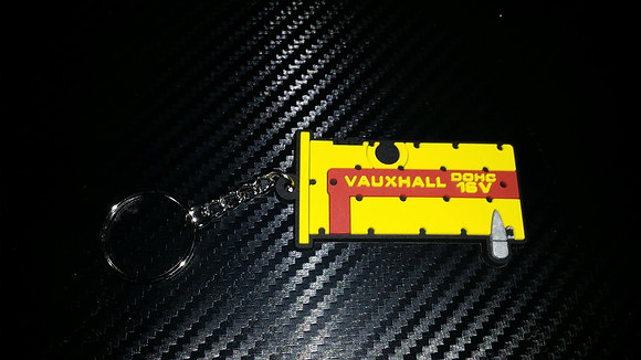 """C20XE Rocker Key Ring """"Yellow/Red"""" Old Style"""