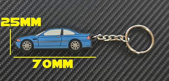 BMW E46 M3 Key Ring Blue