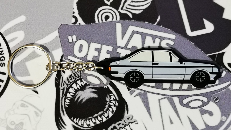 Ford Escort RS2000 Key Ring Nordic Blue