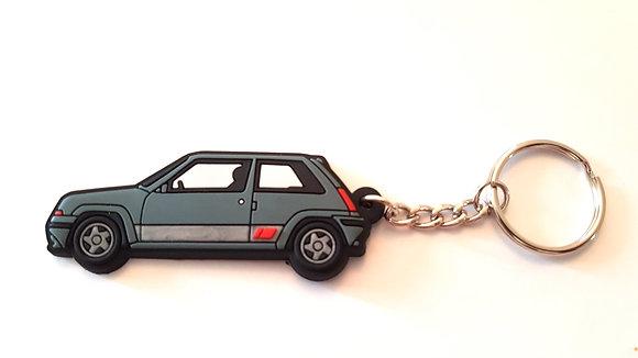 Renault 5 GT Turbo Phase 2 Key Ring Grey