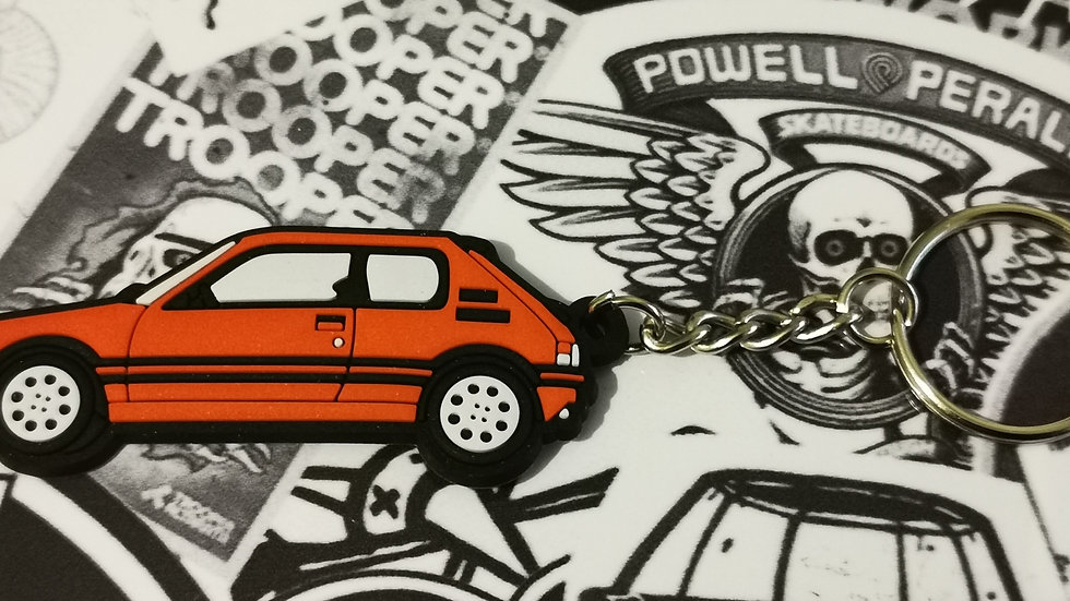 Peugeot 205 GTI Car Key Ring Cherry Red