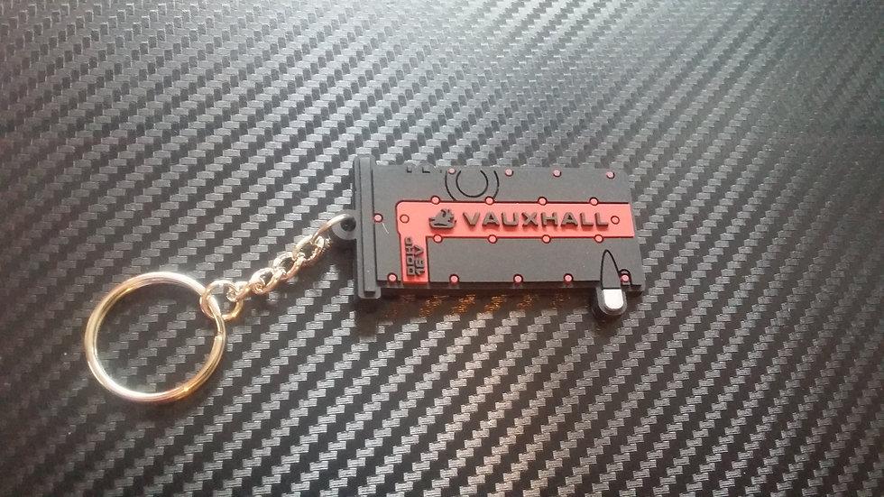 "C20XE Rocker Cover Key Ring ""Black/Red"" Calibra"
