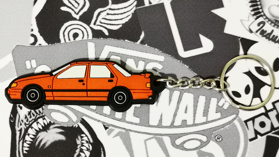 Ford Sierra Sapphire RS Cosworth Key Ring Red