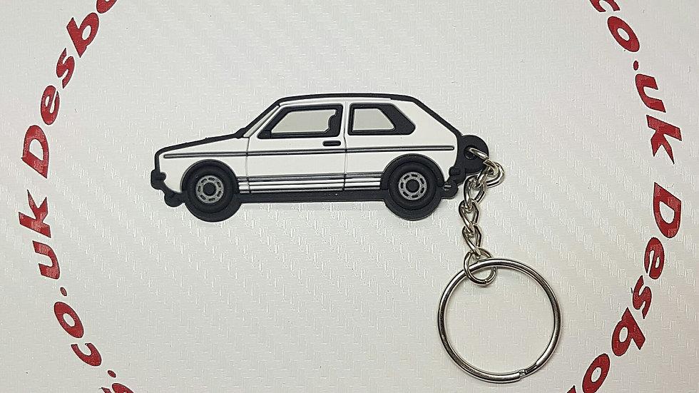 VW Golf Mk1 Key Ring White