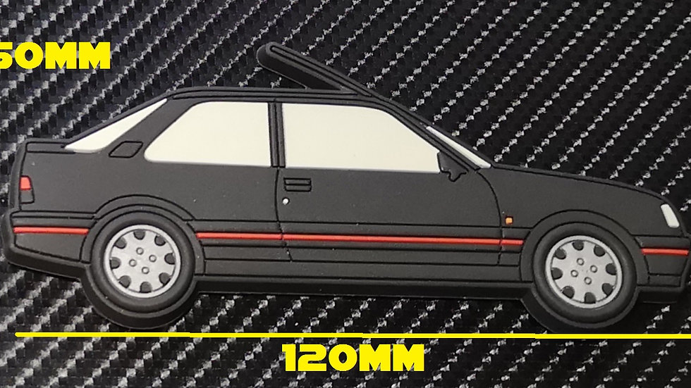Peugeot 309 GTI Fridge Magnet Black