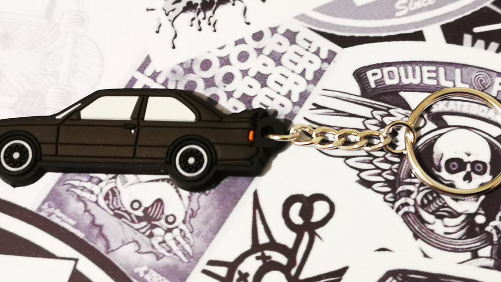 BMW E30 M3 Key Ring Black