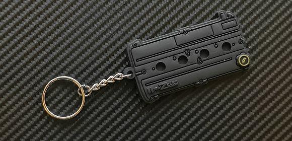 Zetec Rocker Cover Key Ring Black