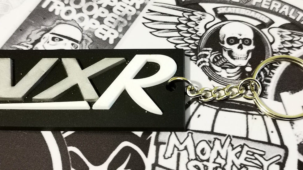 "Vauxhall VXR Key Ring ""WHITE R"""