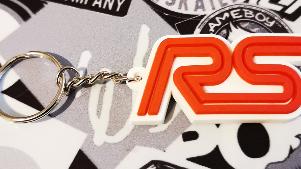 Ford RS Focus ST Key ring  White / Red