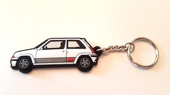 Renault 5 GT Turbo Phase 2 Key Ring White