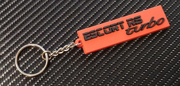 Escort RS Turbo Rear Badge Key Ring Red