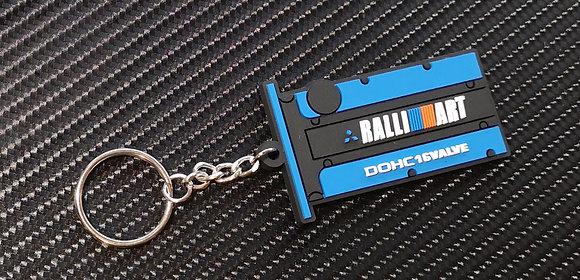 Mitsubishi Ralli Art Key Ring Blue