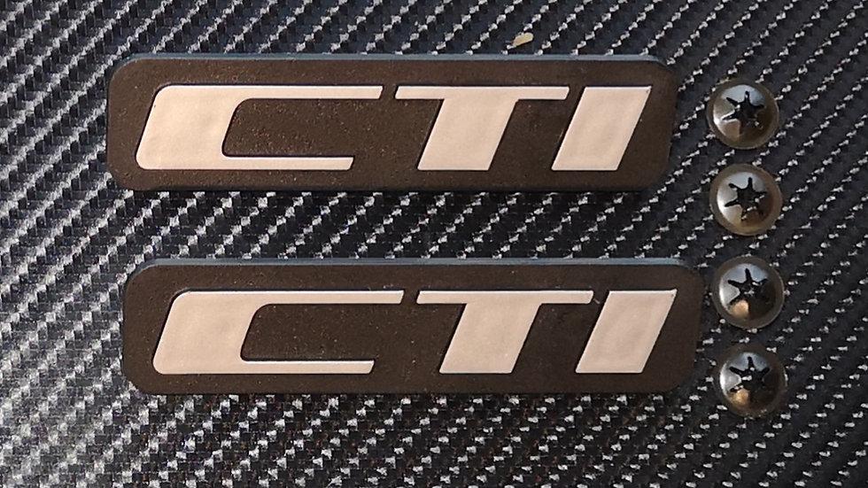 Peugeot 205 Reproduction Mudflap Badges Cti