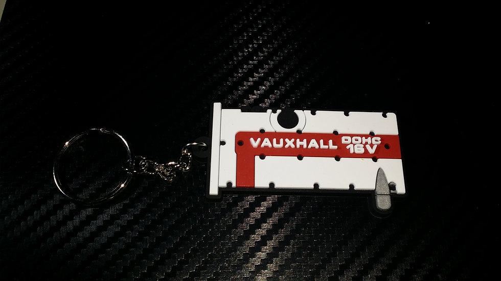 "C20XE Rocker Key Ring ""White/Red"" Old Style"