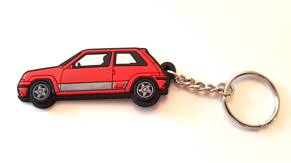 Renault 5 GT Turbo Phase 2 Key Ring Red