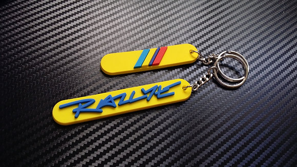 "Peugeot 205 Rallye Key-Rings ""Yellow"""