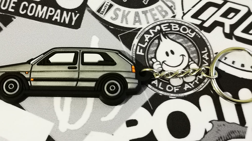 VW Golf GTI Mk2 Key Ring Silver