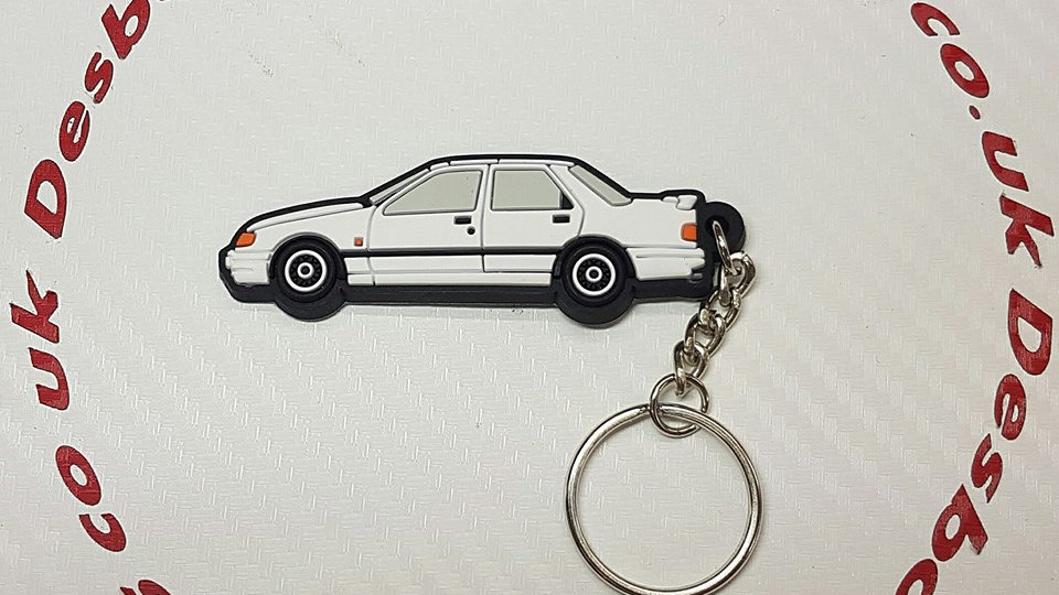Serria Sapphire RS Cosworth Key Ring White