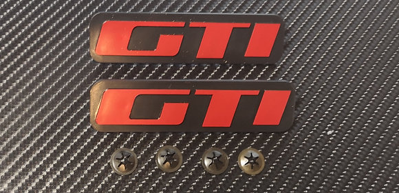 Peugeot 205 Reproduction Mudflap Badges GTI