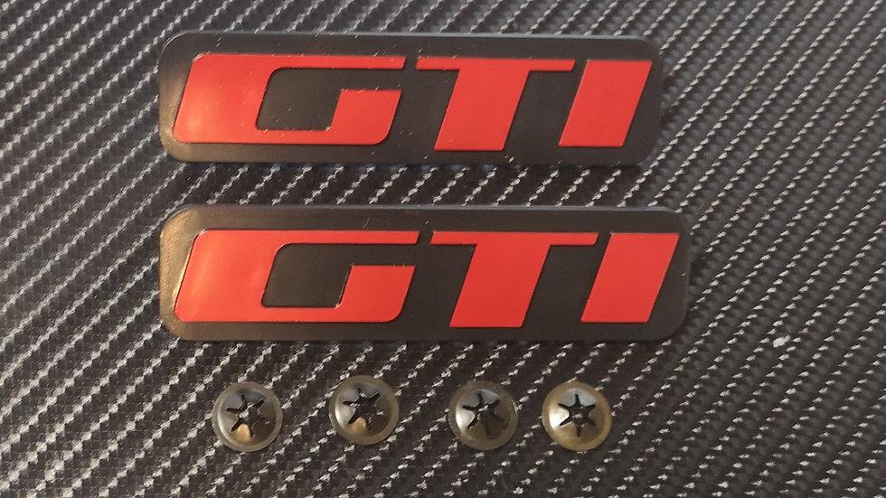 Peugeot 205 Reproduction Mudflap Badges GTI