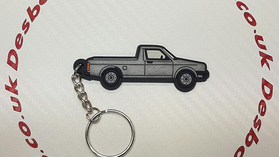 VW Golf Caddy Mk1 Key Ring Silver