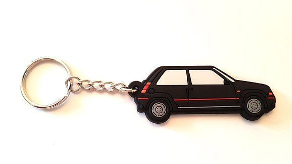 Renault 5 GT Turbo Phase 1 Key Ring Black
