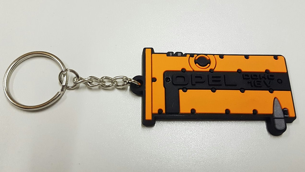 Opel XE Rocker Cover Key ring Bright Orange