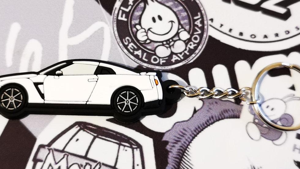 Nissan GTR R35 White Key Ring