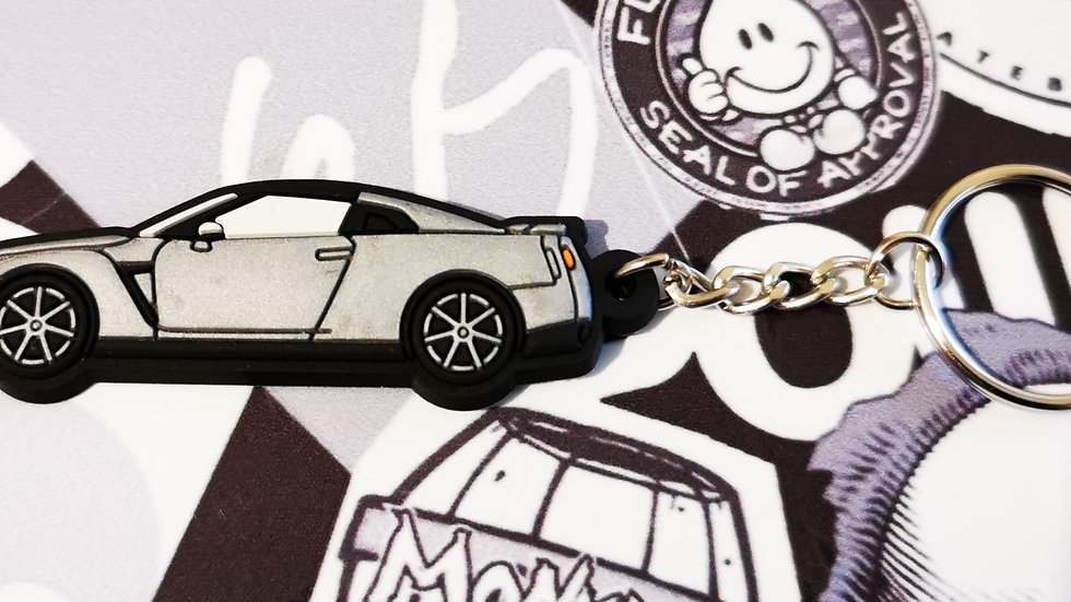 Nissan GTR R35 Silver Key Ring
