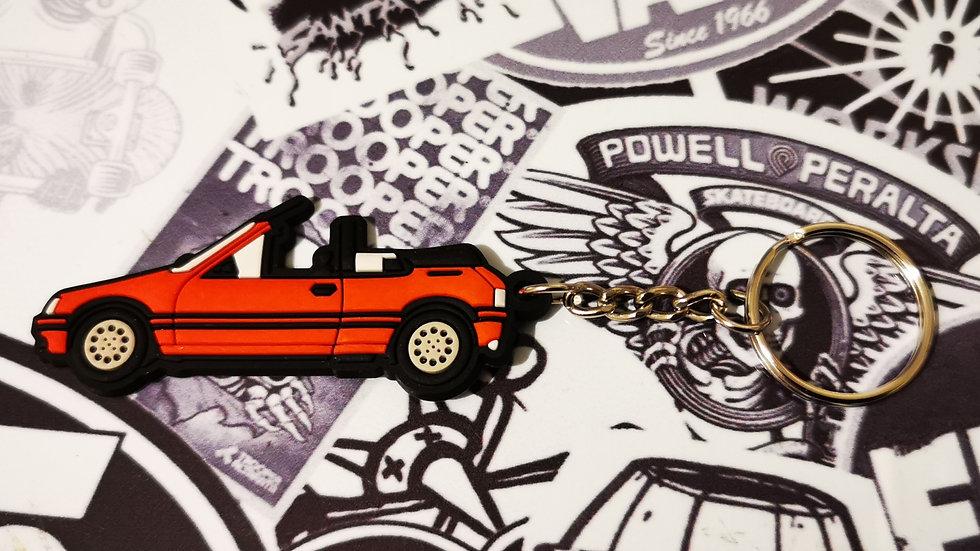 Peugeot 205 CTI Car Key Ring Cherry Red