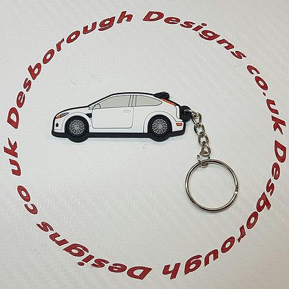 Focus RS / ST Key Ring White