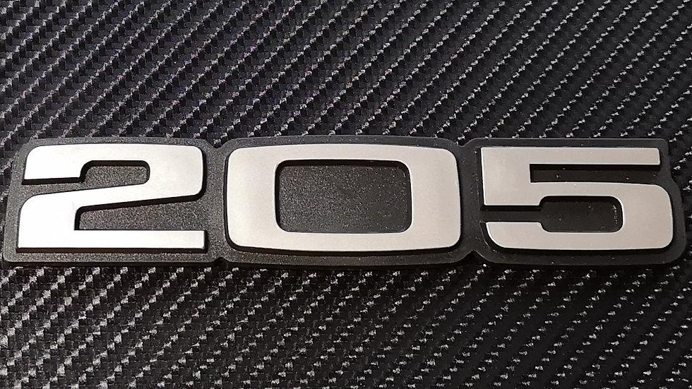 Peugeot 205 Reproduction Rear Badge