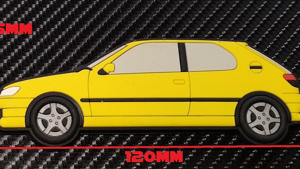 Peugeot 306 GTI-6 S16 Fridge Magnet Yellow