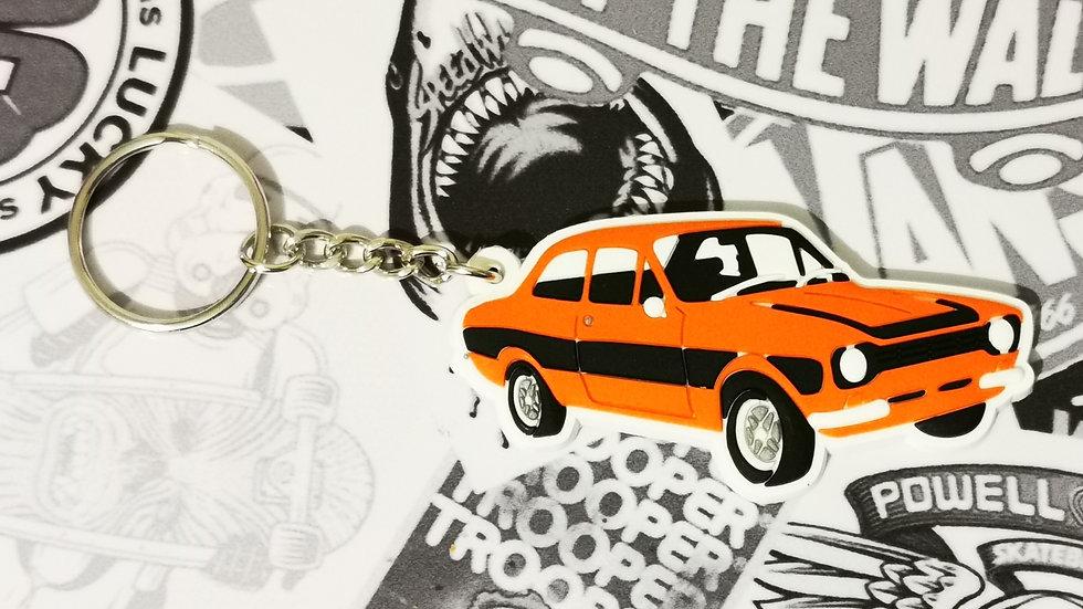 Ford Mark 1 Escort Key Ring Orange