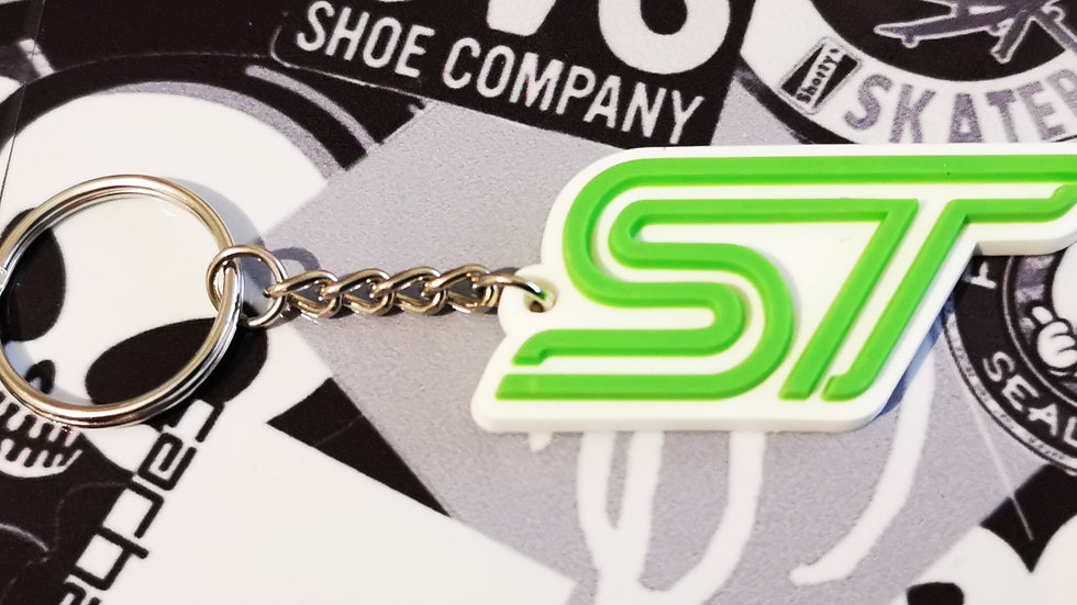 Ford Fiesta Focus ST Key ring  White / Green
