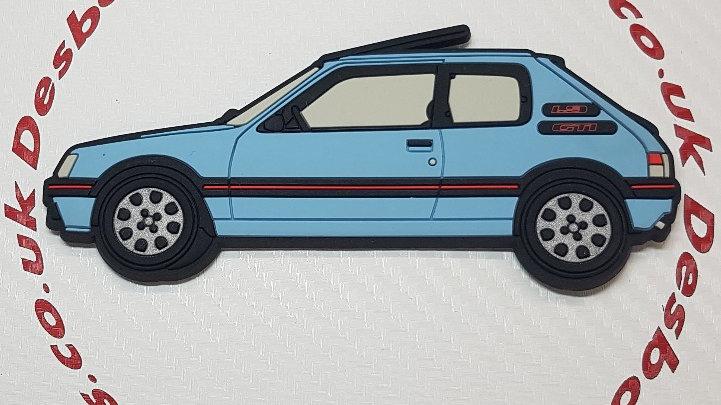 Peugeot 205 Gti Fridge Magnet Topaz Blue