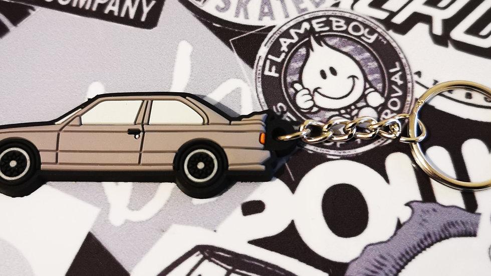 BMW E30 M3 Key Ring Silver