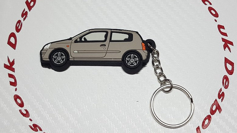 Renault Clio Key Ring Grey