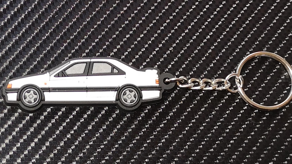 Peugeot 405 Mi16 / T16 Key Ring White