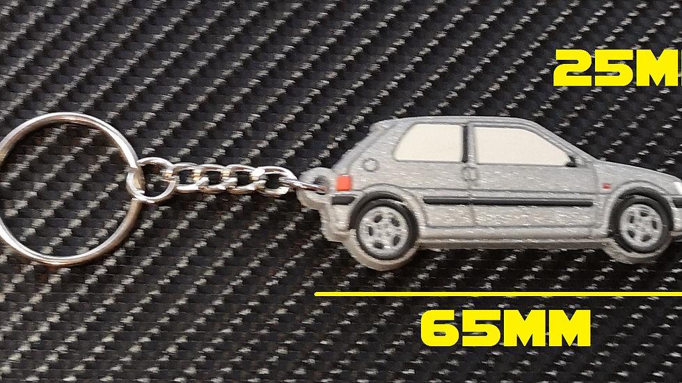 Peugeot 106 GTI Car Key Silver