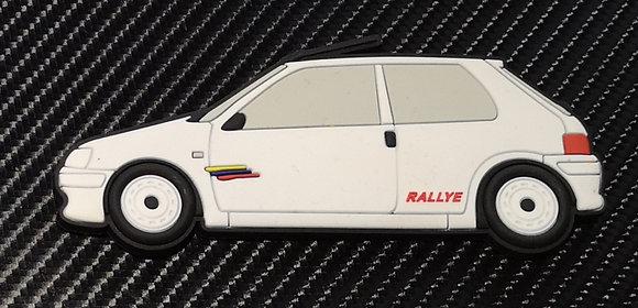 Peugeot 106 Fridge Magnet Phase 2 Rallye White
