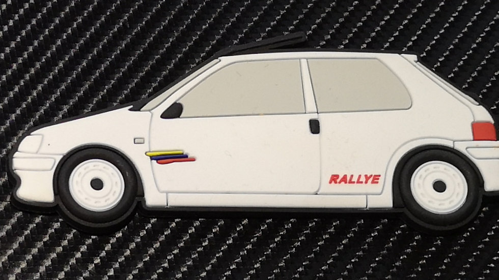 Peugeot 106 Fridge Magnet Phase 2 Rallye White